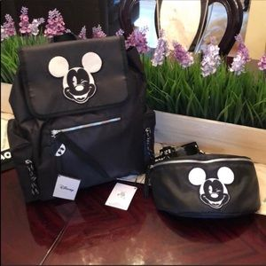 ❤️ NEW 2 Piece Disney Mickey Backpack & Waist Bag!